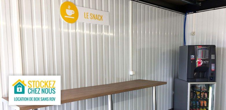 le coin café dans votre centre de location de box de stockage à Nimes